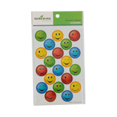 Renewing Minds, Bright Smiley Face Stickers, Assorted Colors, Pack of 100