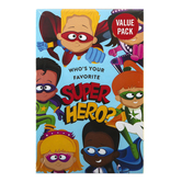 Salt & Light, Who's Your Favorite Super Hero Gospel Tracts, 5 1/4 x 3 1/2 inches, Set of 50 Tracts