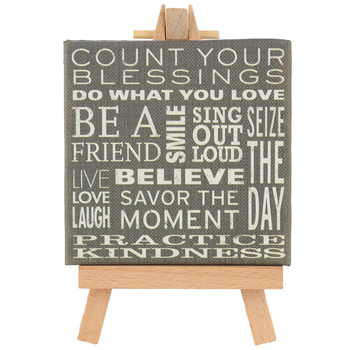Peter Pauper Press, Inc., Believe Mini Gallery Tabletop Plaque, 5 3/4 x 3 1/2 inches