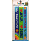 VBS and Camp Crafts, Christian Slap Bracelets, 9.5 Inches, Multi-Colored, Pack of 12
