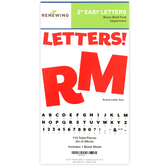 Renewing Minds, Red Bulletin Board Letters, Uppercase, 2 Inches, Red, 110 Pieces