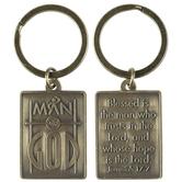 Dicksons, Jeremiah 17:7 Man of God Keyring, Metal, Antique Bronze, 2 1/4 x 1 inches