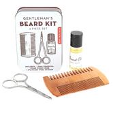 Kikkerland Design Inc., Gentleman's Beard Kit, 3 Pieces, 3 x 4 x 1 1/4 inches