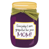 Imagine Design, Everyday I Am Grapeful For You Mom Magnet, Purple, 2 1/4 x 3 3/4 inches