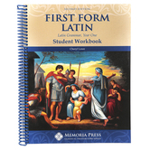Memoria Press, First Form Latin Student Workbook, 2nd Edition, Spiral, 230 Pages, Grades 5-Adult