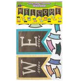Teacher Created Resources, Home Sweet Classroom Pennants Welcome Bulletin Board Set, 55 Pieces