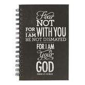 SoulScripts, Fear Not, Spiral-Bound Hardcover Journal, Black, 5 1/4 x 8 inches, 160 pages