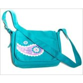 Zondervan, Faithgirlz! Messenger Bag Bible Cover, Teal Paisley, Medium