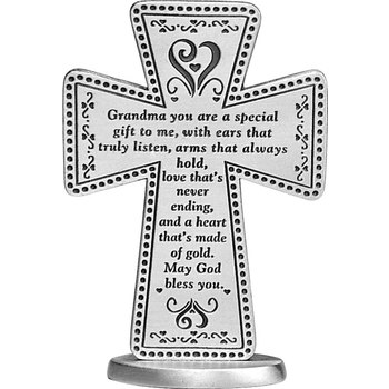 Abbey and CA Gift, Grandma Standing Cross, 3 inches