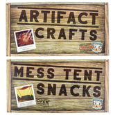 LifeWay, Destination Dig VBS 2021 Rotation Signs Kit, 8 Pieces, Preschool - Grade 6