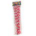Tree House Studio, Chenille Stems, 12 x 1/4 Inches, Red & White Twisted, 40 Count