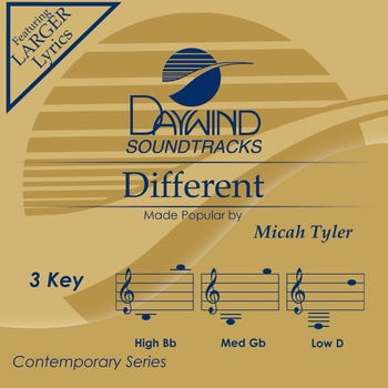 Different, Accompaniment Track, As Made Popular by Micah Tyler, CD