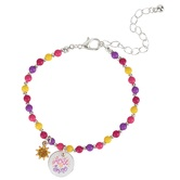 Glitter and Grace, Isaiah 60:1 Arise and Shine Beaded Charm Bracelet, Assorted Colors and Silver