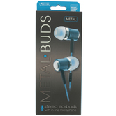 Sentry, Earbuds with Microphone, 4 Foot Cord, Blue
