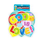Carson-Dellosa, God Is Love 2-Sided Decoration, 1 Piece