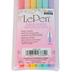 Marvy Uchida, LePen Pastel Ink Pen Set, Fine Tip, 1 Each of 6 Colors