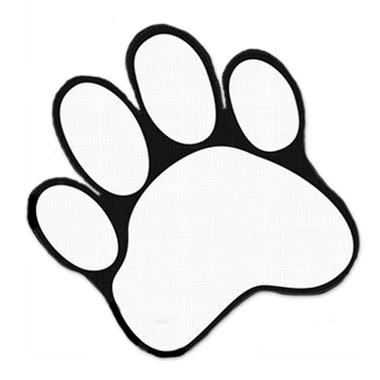 Paw Print Two-Sided Decoration