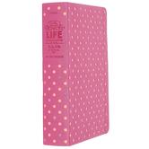 NLT Girls Life Application Stud Bible, Duo-Tone, Pink, Glow in the Dark