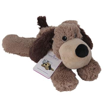 Warmies, Laying Down Dog Stuffed Animal, Plush, Brown & Tan, 13 inches