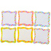 Renewing Minds, Bright Blank Signs Large Cutouts, Multi-Colored, 6 Inches, 6 Designs, 36 Pieces