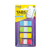 3M, Post-It Tabs, 5/8 inch, 10 Each of 4 Colors