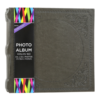 Brother Sister Design Studio, Brown Debossed Photo Album, 9.25 x 8.50 Inches, 160 Photo Slots