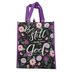 Renewing Faith, Psalm 46:10 Be Still And Know That I Am God Tote Bag, Black and Purple, 12 x 10 x 4 inches