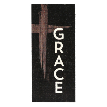 P. Graham Dunn, Grace Cross Word Block, Pine Wood, 3 1/2 x 1 5/8 inches