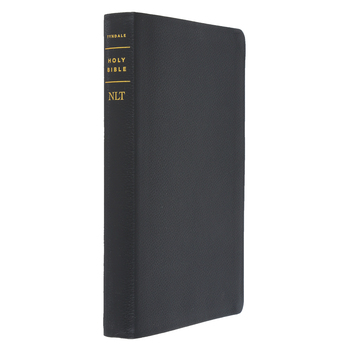 NLT Filament Thinline Reference Bible, Genuine Leather, Black