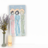Renewing Faith, Angelic Trio Wall Art, Canvas, 12 x 24 inches