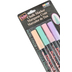 Uchida, Bistro Chalk Markers, Fine Point, Assorted Pastel Colors, Pack of 4