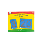 Didax, Tactile Sandpaper Numerals 0-20, Grades K-2, 21 Cards