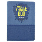 365 Days to Knowing God for Guys, by Carolyn Larsen, Leatherlike, Blue