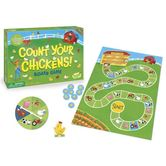 Peaceable Kingdom, Count Your Chickens! Board Game, Ages 3 to 8 Years Old, 2 to 4 Players