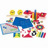 Saxon Homeschool Manipulatives Kit, 1st Edition, Storage Tub with Lid, 450 Pieces, Grades K-3