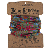Natural Life, Floral Daisy Boho Bandeau, Polyester, Multicolored, 18 x 10 inches