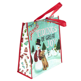Renewing Faith, Good Tidings of Great Joy Christmas Reusable Tote Bag, Large, 15 x 6 x 14 1/4 inches