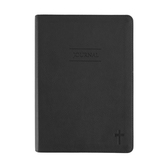 SoulScripts, Cross Embossed, Flexcover Journal, Charcoal, 6 x 8 1/2 inches, 360 pages