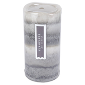 Winfield Home Decor, Layered LED Pillar Candle, Gray, 3 x 6 inches