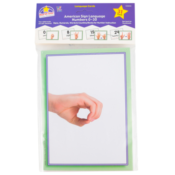 North Star Teacher Resources, American Sign Language Numbers Cards, 6 x 8 Inches, 26 Pieces, PreK-12