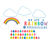 Schoolgirl Style, Hello Sunshine We Are A Rainbow Motivational Bulletin Board Set, 72 Pieces