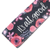 Brownlow Gifts, It's All Good Wristlet Keychain, Neoprene, Black and Pink, 6 1/2 Inches
