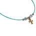 Glitter and Grace, Jesus Loves Me Beaded Bracelet Set, Turquoise and Gold, 3 Pieces