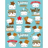 Eureka, S'Mores Scented Stickers, 1 x 1 Inch, Multi-Colored, Pack of 80