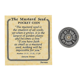 H.J. Sherman, The Mustard Seed Pocket Coin, Pewter, 1 inch