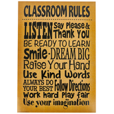 Teacher Created Resources, Burlap Classroom Rules Positive Poster, 13 x 19 Inches, 1 Piece
