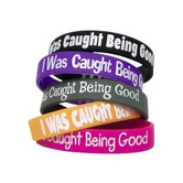 Teacher Created Resources, I Was Caught Being Good Wristbands, 7.25 Inches, Assorted, Pack of 10