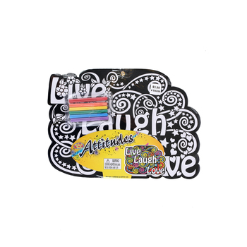 Creative Platypus Velvet Fun, Live, Laugh, Love Poster Set With Markers