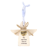 Abbey and CA Gift, Grandma You Are Loved Angel Ornament, MDF, 3 3/4 inches