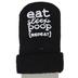 Stephan Baby, Eat Sleep Poop Repeat Socks, Cotton, Black, Size 3 to 12 Months
